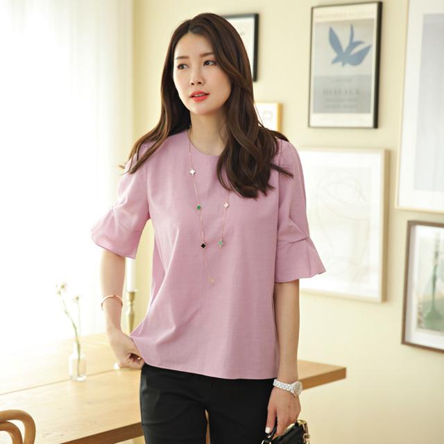 tiramisu-6951라벤다소매프릴블라우스♡韓國女裝上衣
