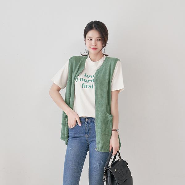 canmart-[베이조끼집업 C041908]♡韓國女裝外套