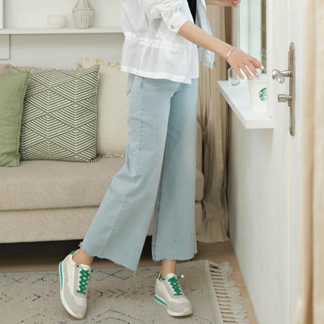 tiramisu-6941아이스와이드청팬츠♡韓國女裝褲