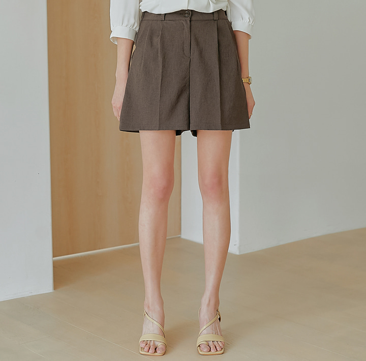 common-unique--온디어 밴딩 핀턱 쇼츠♡韓國女裝褲