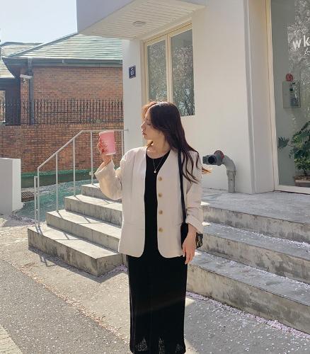 withyoon-린넨 노카라 - made jacket♡韓國女裝外套