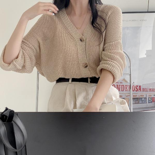 realcoco-♥NEW10%할인♥타마 부클 브이넥 가디건(데일리/봄)♡韓國女裝外套