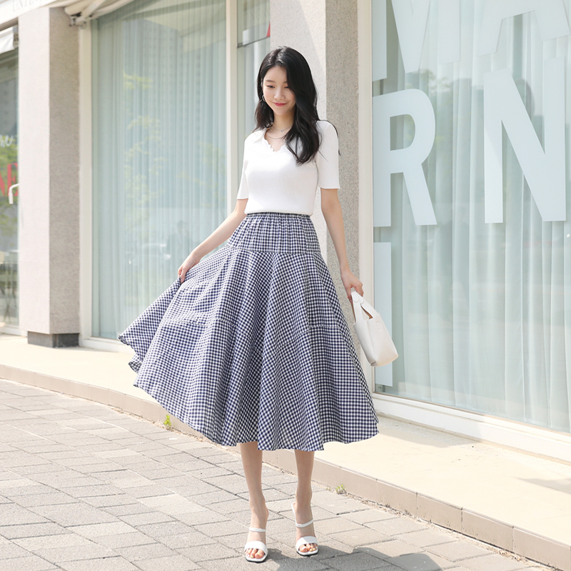 clicknfunny-테른 체크스커트♡韓國女裝裙