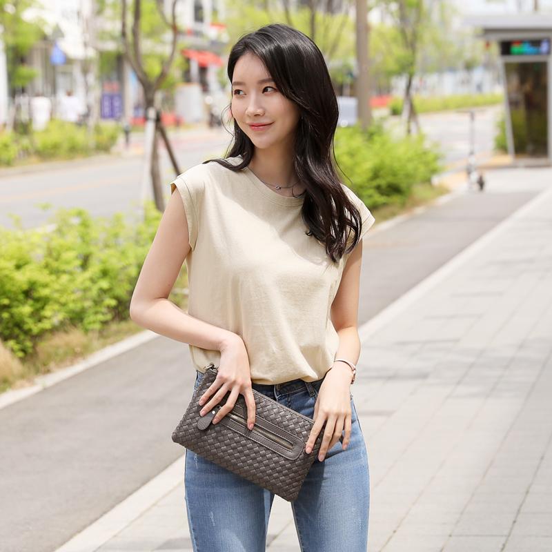 clicknfunny-뷰리드 캡소매티셔츠♡韓國女裝上衣