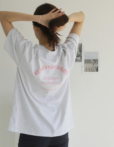 indibrand-데어리 박스 티셔츠♡韓國女裝上衣