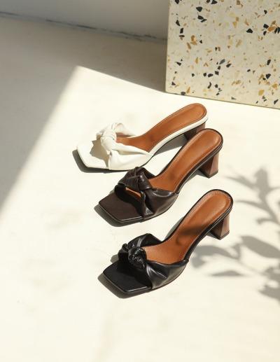 indibrand-누 매듭 뮬 (수입)♡韓國女裝鞋