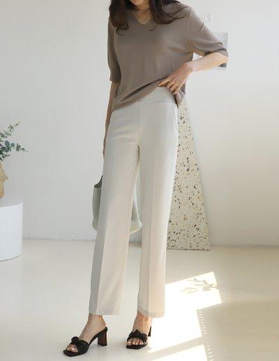 indibrand-통 밴딩 슬랙스 (ver. SUMMER)♡韓國女裝褲