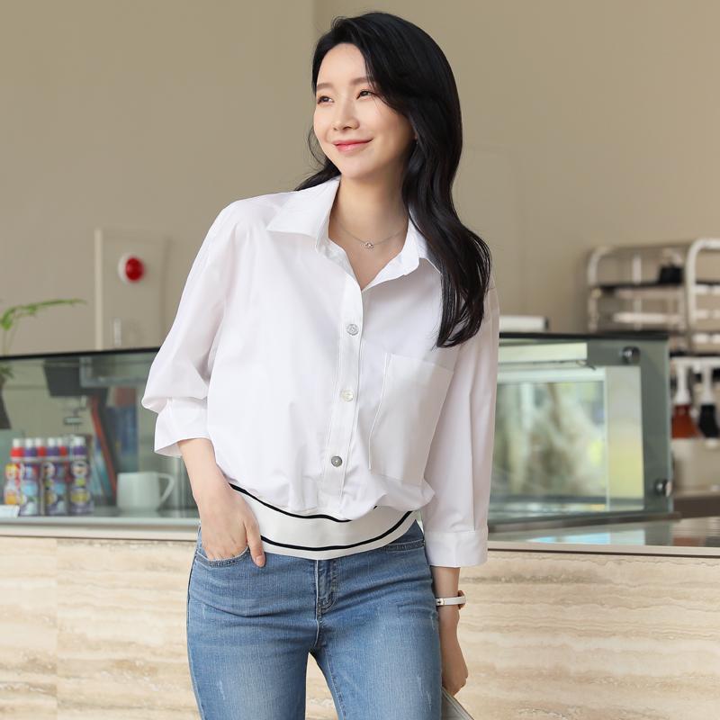 clicknfunny-소븐 시보리셔츠♡韓國女裝上衣