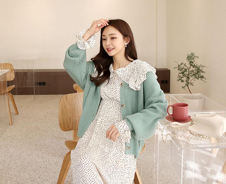 happy10-[(봄신상입고) 임부복*소매펀칭하찌 가디건]♡韓國孕婦裝外套