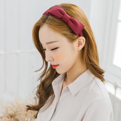 soo-soo-[헤어밴드,레나크리스큐니리본 헤어밴드 (15H393) [4color]]♡韓國女裝飾品