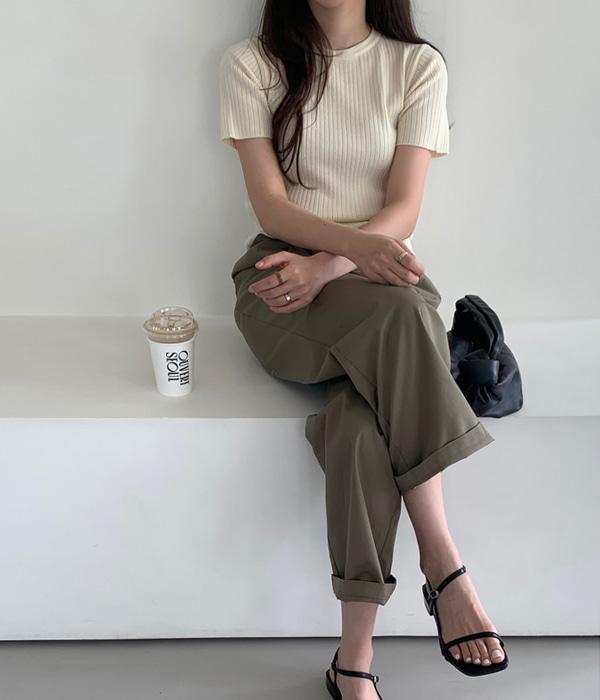 veryyou-크린 핀턱 PT♡韓國女裝褲