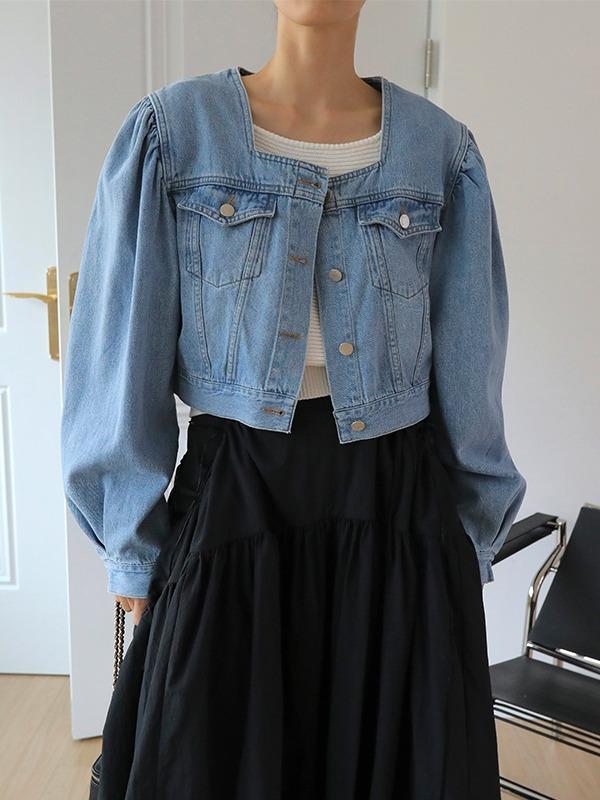 11am-프엘 스퀘어 데님 자켓(2주소요)♡韓國女裝外套