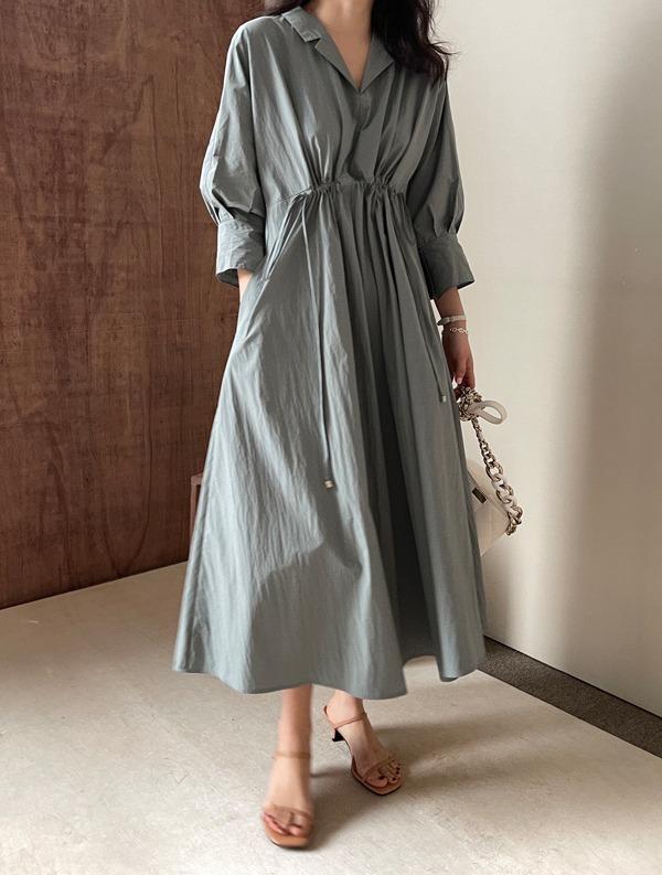 ssumj-디케 바스락 스트링 원피스(3col)♡韓國女裝連身裙