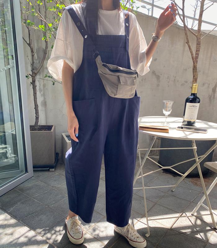sibuya-[b. 포켓 와이드 오버롤(2차 리오더중-4/16입고예정)]♡韓國女裝連身裙
