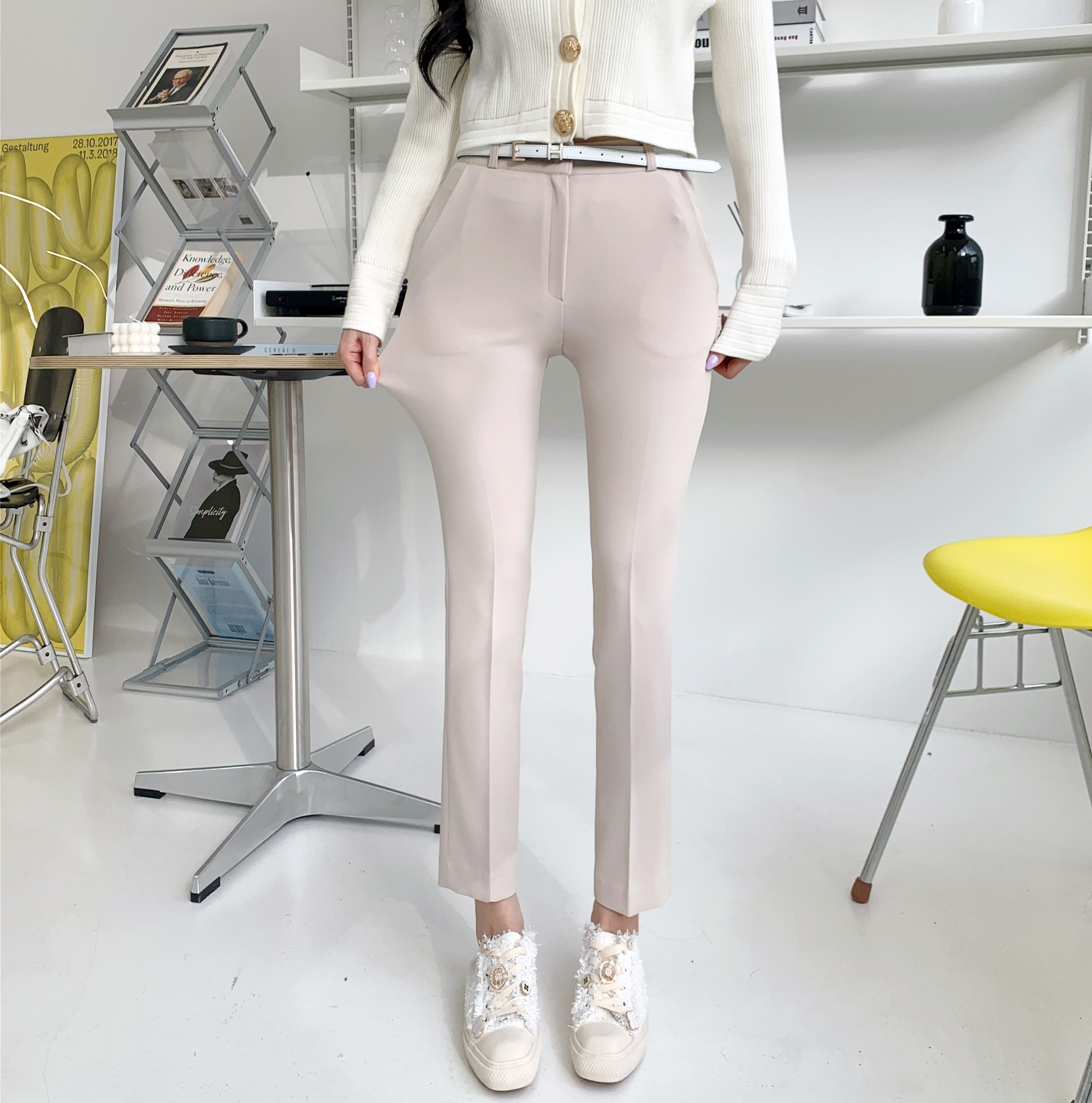 uinme-소장각 스타킹 슬랙스 - [ 5color ] - 유인미소장각 스타킹 슬랙스 - [ 5color ] - 유인미♡韓國女裝褲
