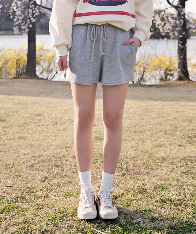 kikiko-시너지와플반바지♡韓國女裝褲