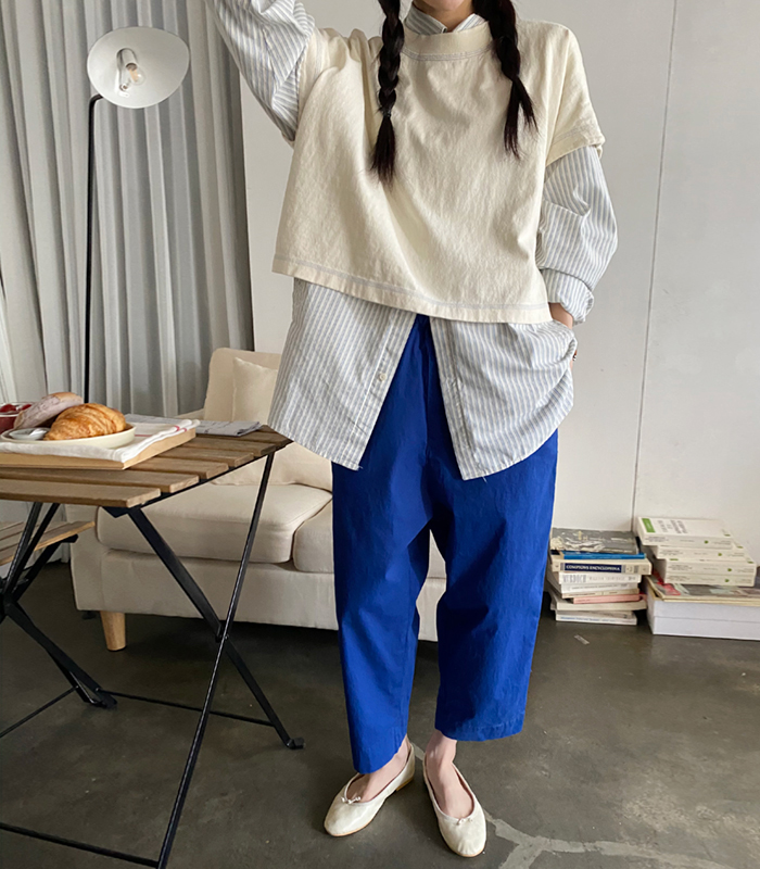 sibuya-[스티치 워싱 tee]♡韓國女裝上衣