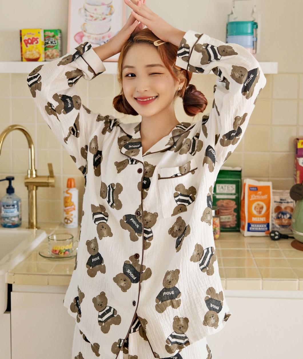 kikiko-탱탱베어파자마SET♡韓國女裝套裝
