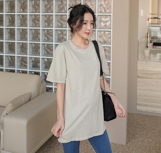 soim-[임부복*20수컬러맛집 피그먼트티셔츠]♡韓國孕婦裝上衣