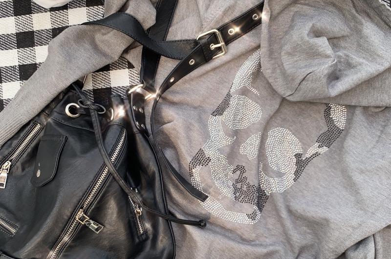 torishop-HAND MADE◈ 스컬 핫픽스 니트후드JP (2color)♡韓國女裝外套