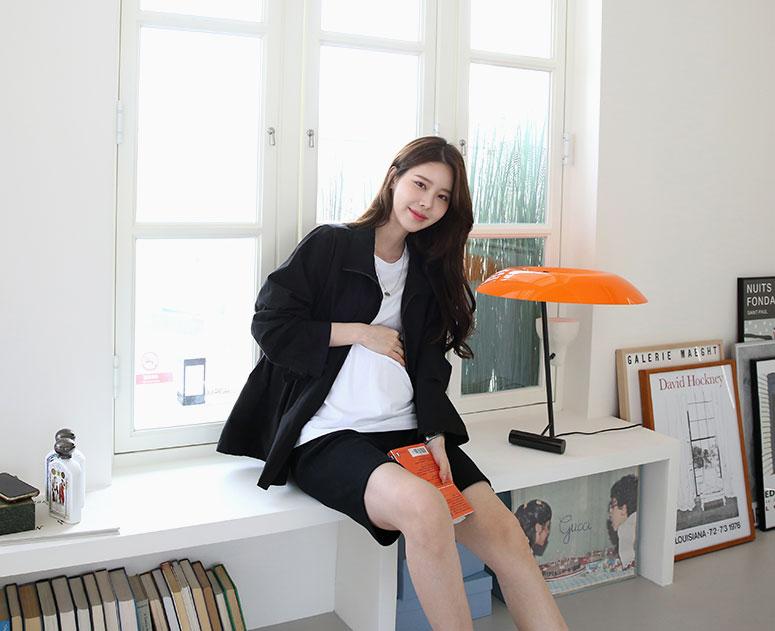 happy10-[*신상5% 기간한정할인*임부복*내추럴코튼 스트링 점퍼]♡韓國孕婦裝外套