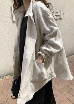 ifgirl-웨이브 리넨 점퍼♡韓國女裝外套