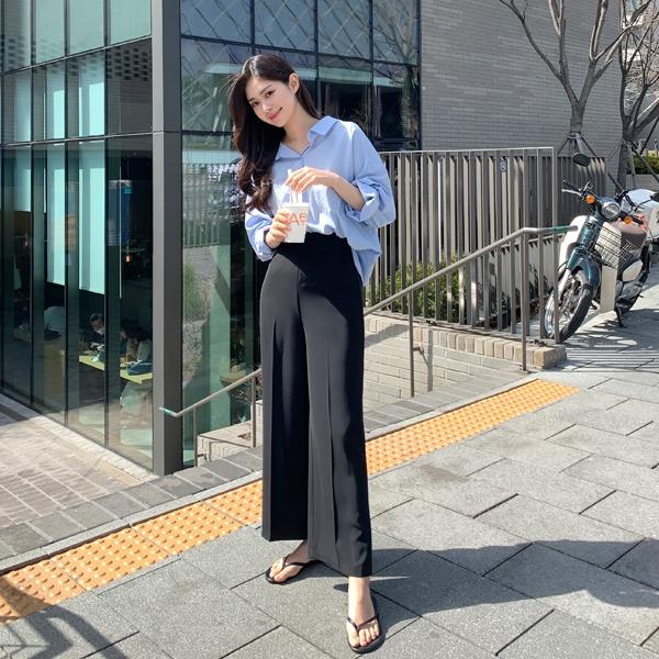 benito-[made] #베니토특가 라이프 찰랑찰랑 와이드 팬츠신상/신상바지/신상팬츠/슬랙스/스판슬랙스/베스트/여성/데일리♡韓國女裝褲