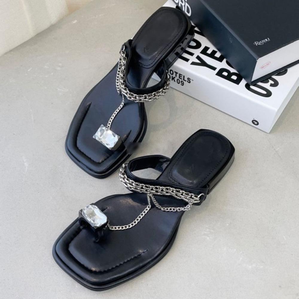 uinme-스톤쥬얼 쪼리 샌들 - 유인미스톤쥬얼 쪼리 샌들 - 유인미♡韓國女裝鞋