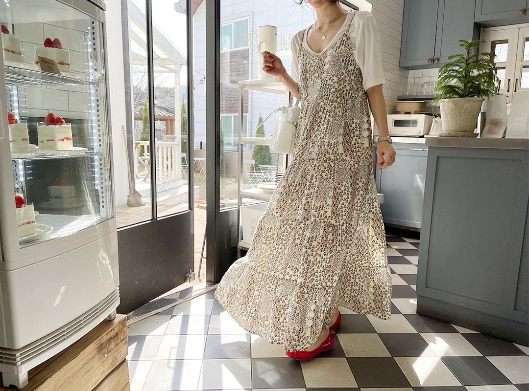 naning9-위와드 플라워맥시원피스(C04)♡韓國女裝連身裙