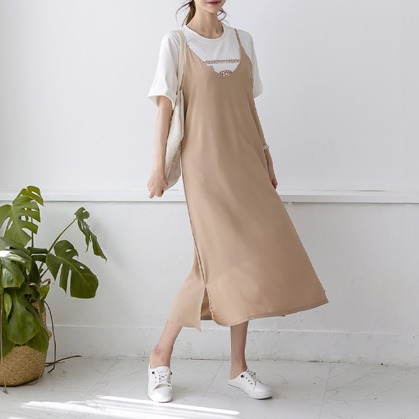 misscandy-[no.20280 브이넥 레이어드 민소매원피스]♡韓國女裝連身裙