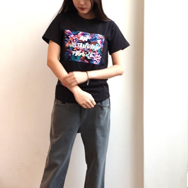 jennifereryn-프린팅 레터링 반팔티셔츠3칼라♡韓國女裝上衣