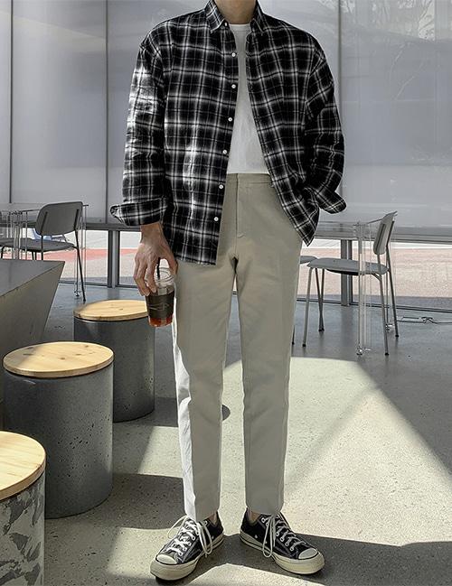 from-us-라피 쿠앤크 셔츠 (2color)♡韓國男裝上衣