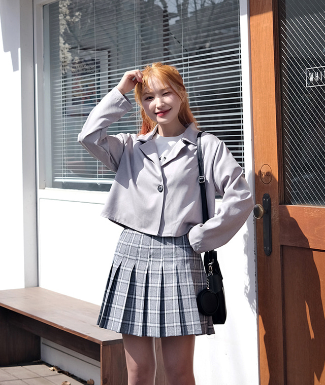 kikiko-힙스터크롭자켓♡韓國女裝外套