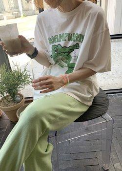 ifgirl-크로커다일 티 (3color)♡韓國女裝上衣