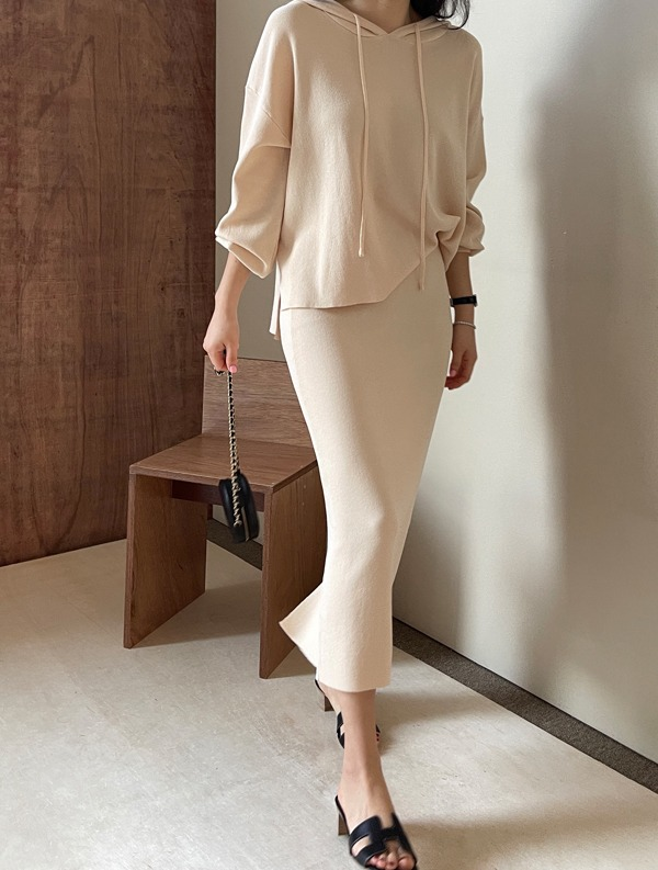 ssumj-하임 후드스커트 세트(4col)♡韓國女裝套裝