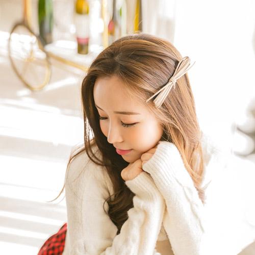 soo-soo-[헤어핀,레나크리스세세리본자동핀 (15H422) [5color]]♡韓國女裝飾品
