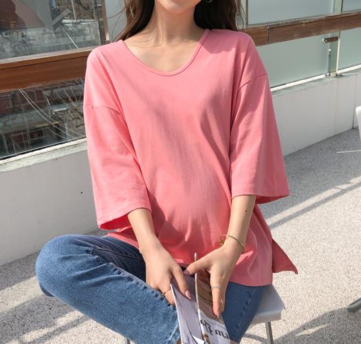 soim-[임부복*둥근유넥 반팔티]♡韓國孕婦裝上衣
