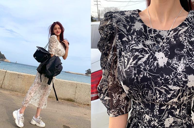torishop-리즈셔링 쉬폰OPS ◈안감내장 (2color)♡韓國女裝連身裙