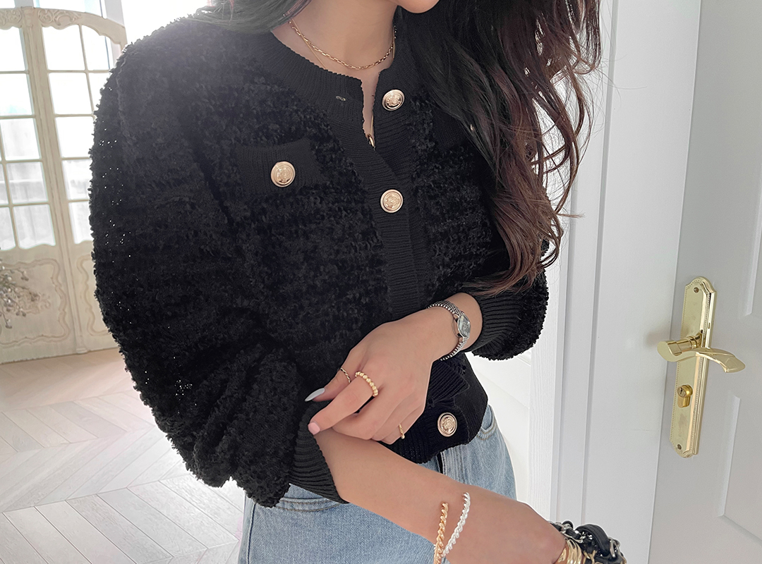 naning9-시사르 뽀글가디건(C03)♡韓國女裝外套