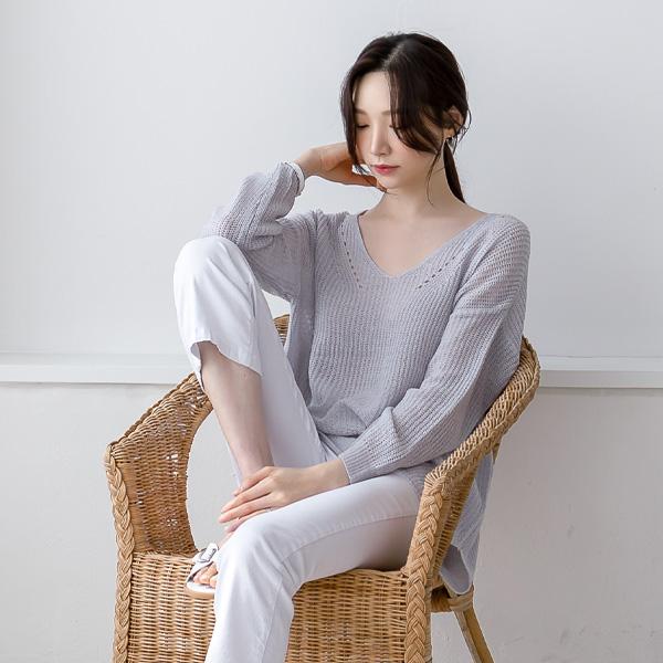 misscandy-[no.20302 스카시짜임 여리핏 브이넥니트]♡韓國女裝上衣