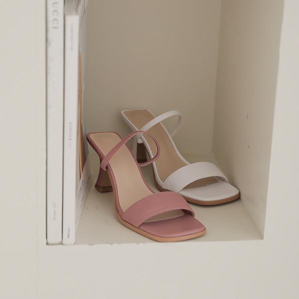 ode-[스퀘어 투스트랩 슬리퍼 힐]♡韓國女裝鞋