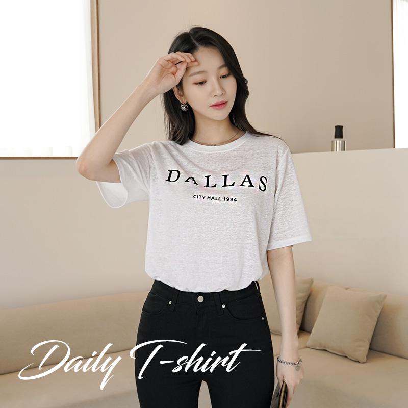 clicknfunny-댈러스 린넨티셔츠♡韓國女裝上衣