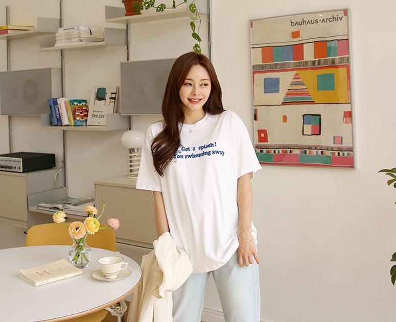 happy10-[*신상5% 기간한정할인*임부복*돌핀코튼 박스 티]♡韓國孕婦裝上衣