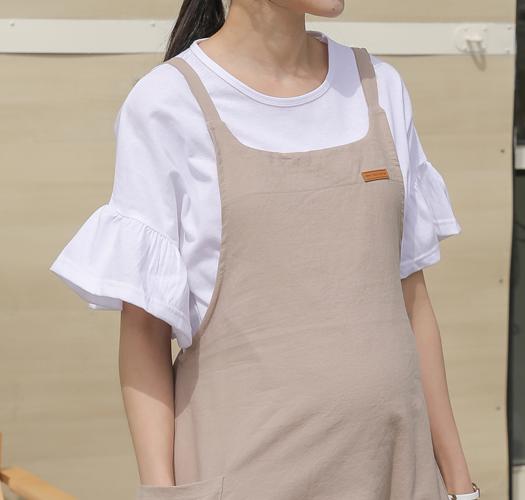 soim-[임부복*프릴소매 티셔츠]♡韓國孕婦裝上衣