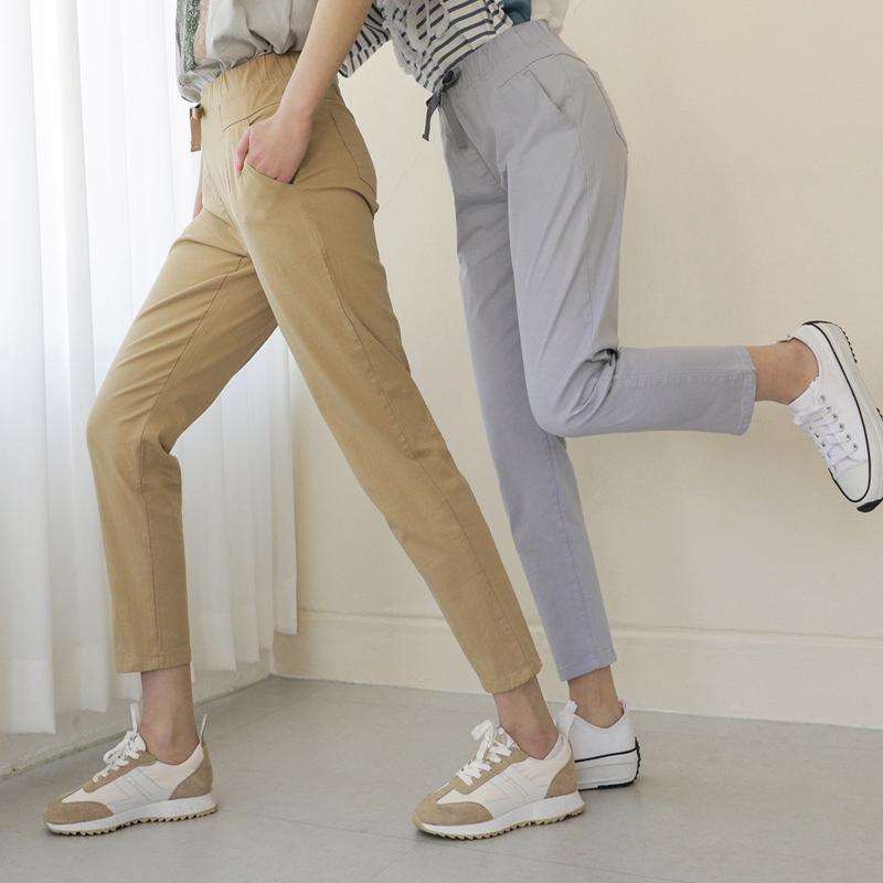 clicknfunny-굿무드 코튼배기팬츠[M,L사이즈]♡韓國女裝褲