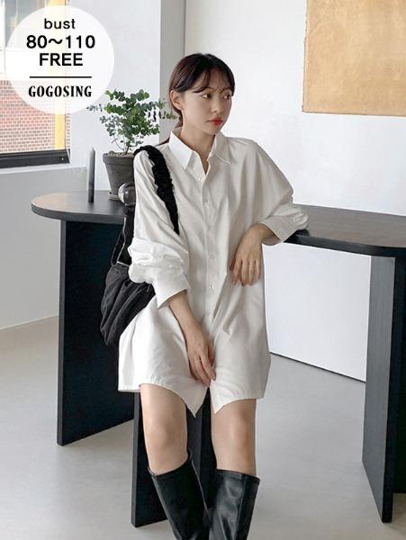 ggsing-[7일9시까지9%할인]오버핏 루즈NB (롱,셔츠,ops,무료배송)♡韓國女裝連身裙