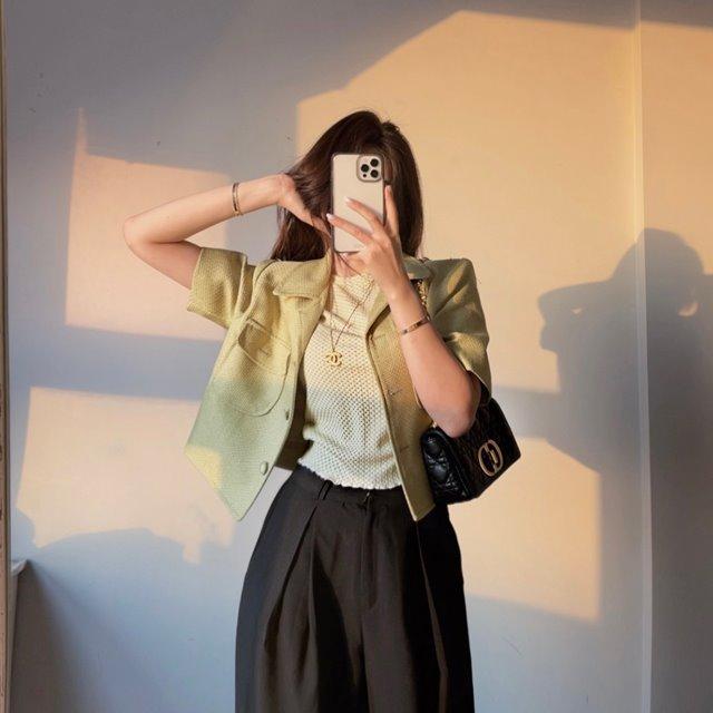 mybany-와플체크티셔츠♡韓國女裝上衣