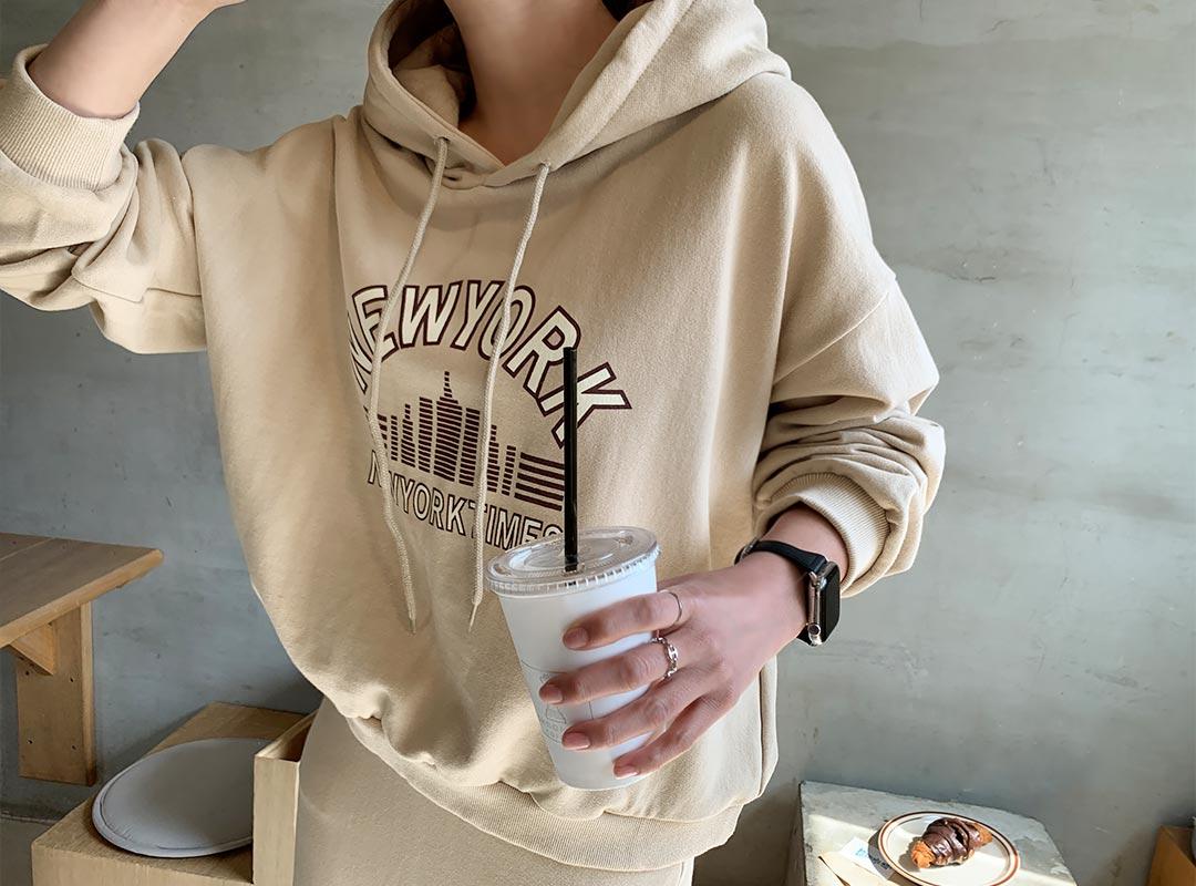 naning9-비엘즈 나염후드스커트세트(B02)♡韓國女裝套裝