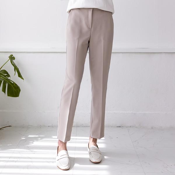 misscandy-[no.20284 사선포켓 세미배기핏 밴딩슬랙스]♡韓國女裝褲