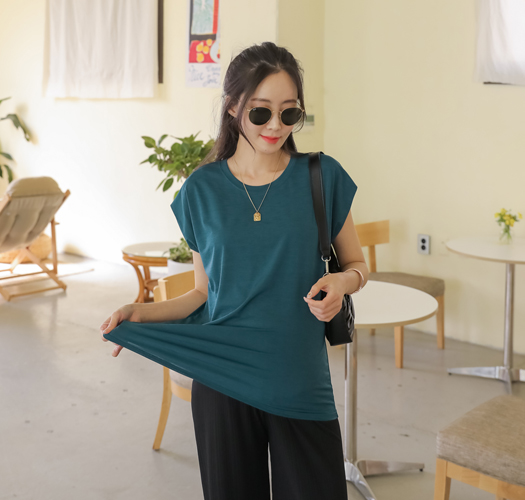 soim-[임부복*냉장고캡소매 티셔츠]♡韓國孕婦裝上衣